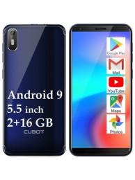 "Telefon Mobil CUBOT J5, 5.5"", 2+16GB, Android 9, Albastru +Husa +Folie"