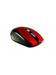 Mouse Optic Media-Tech RATON PRO Wireless, 5 Butoane, Scroll, 1200 dpi, Rosu