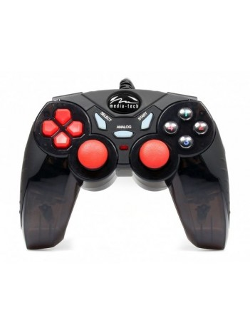Gamepad Media-Tech HELLSTORM XQ, Digital/Analog cu Vibratii, Compatibil PC