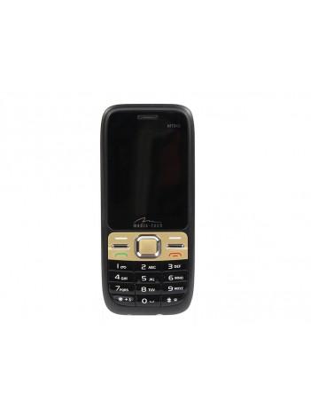 Telefon Dual SIM Media-Tech TWIN cu Ecran 2.4inch, Ecran LCD, Baterie Litiu tip Nokia, Culoare Negru/Auriu