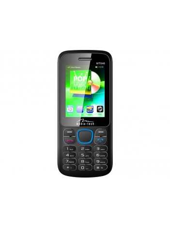 Telefon Dual SIM Media-Tech Dual HQ cu Ecran 2.4inch, Ecran LCD, Baterie Litiu tip Nokia, Culoare Negru/Albastru