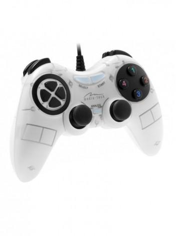 Gamepad Media-Tech CORSAIR II, Digital/Analog pentru PC si PS3, cu Vibratii, Alb