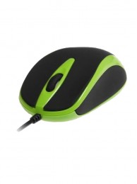 Mouse Optic Media-Tech 3 Butoane, Scroll, 800 dpi, USB, Verde