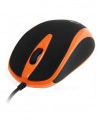 Mouse Optic Media-Tech 3 Butoane, Scroll, 800 dpi, USB, Portocaliu