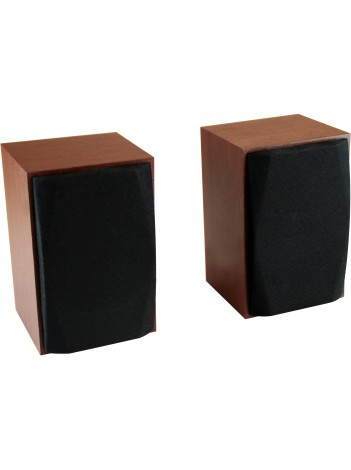 Boxe Media-Tech WOOD-X MT3151, Alimentare USB, 10W RMS, Incinta din Lemn, Maro