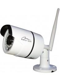 Camera IP Media-Tech FullHD 1080p pentru utilizare la Exterior, Supraveghere Video de pe Mobil si PC, Detectare Miscare, LED-uri Infrarosu pentru Vedere de Noapte