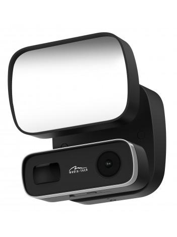 Camera IP Media-Tech Securecam Flood Light, FHD 1080P pentru utilizare la exterior, Supraveghere Video de pe Mobil si PC, Detectare Miscare, Lampa LED, Slot Micro-SD