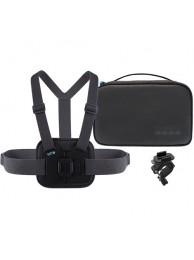 Kit Sport pentru camerele de actiune GoPro, include Geanta Compacta, Sistm de montare pe piept si Sistem de montare pe bara
