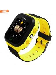 Smartwatch Media-Tech Kids Locator GPS 2.0, Dispozitiv pentru localizarea copiilor prin GPS (Compatibil Android 4.2 sau mai recent, iOS 6.0 sau mai recent), Galben