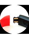 Bratara Inteligenta Media-Tech Active Band MT859 Ecran Tactil OLED, SBT 4.0, rezistenta la apa, monitorizare dinamica puls, Android, iOS, intrari apeluri, negru/rosu