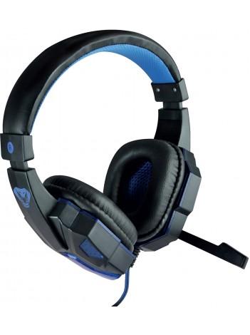 Casti cu Microfon Media-Tech Cobra Pro Stealth pentru Gaming, Stereo, Control Volum, Difuzoare 40mm, Iluminare, Negru