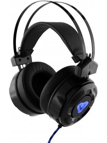 Casti cu Microfon Media-Tech Cobra Pro EXTREME pentru Gaming, Stereo, Control Volum, Difuzoare 40mm, Iluminare, Jack si USB Aurite, Negru