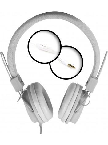 Casti cu Microfon Media-Tech PICTOR Mobile, Stereo, Difuzoare 40 mm, Pliabile, Microfon pe Fir, Alb