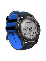SmartWatch NO.1 F3, Ecran Circular 1.1 inch, BT 4.0, Autonomie pana la 365 zile, Protectie IP68, Pedometru, Monitorizare Somn, Altimetru, Barometru, Negru/Albatru
