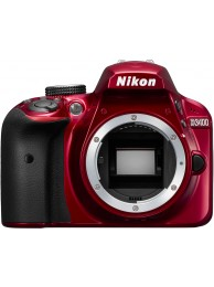 Nikon D3400, Format DX, 24.2 MPx, Full HD Video, Rosu, Body
