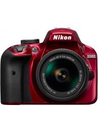 Nikon D3400 cu Obiectiv 18-55mm AF-P VR, Rosu