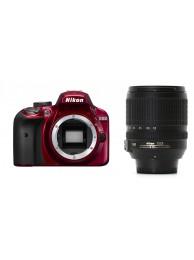 Nikon D3400 cu Obiectiv 18-105MM F/3.5-5.6G ED VR AF-S DX, Rosu