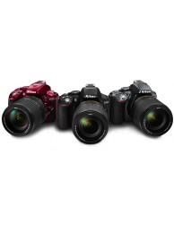 Nikon D5300 cu Obiectiv 18-55mm AF-P VR Negru/Rosu