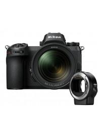 Aparat Foto Mirrorless Nikon Z6  24.5MP Video 4K Kit cu Obiectiv 24-70mm f/4 si Adaptor FTZ