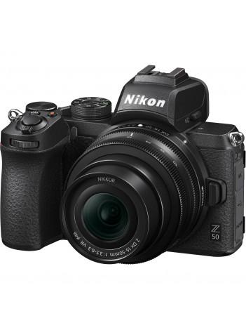 Aparat Foto Mirrorless Nikon Z50  21MP Video 4K cu Obiectiv NIKKOR Z DX 16-50mm f/3.5-6.3 VR