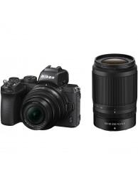 Aparat Foto Mirrorless Nikon Z50  21MP Video 4K cu Obiectiv NIKKOR Z DX 16-50mm f/3.5-6.3 VR + NIKKOR Z DX 50-250mm f/4.5-6.3 VR