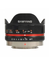Samyang 7.5mm f/3.5 UMC Fisheye UMT for Micro 4/3 Negru