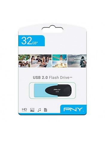 Memorie USB PNY Attache 4 Pastel, 32GB, USB 2.0, Albastru