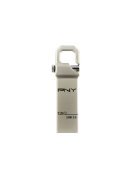 PNY Flash USB 3.0 Hook Attache 128GB, Constructie Metal