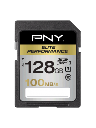 PNY 128GB Elite SDXC 100/75MB/s UHS-I U3, Class 10