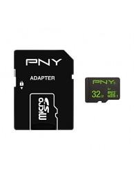 PNY 32GB microSDHC + Adaptor, 100/20MB/s UHS-I, Class 10