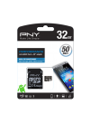 PNY 32GB microSDHC + Adaptor, 50/10MB/s UHS-I, Class 10