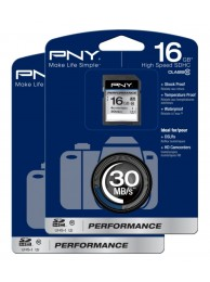 Pachet 2 carduri PNY 16GB Performance (Video HD) SDHC 30/20MB/s UHS-I, Class 10, WaterProof, ShockProof, Temperature Proof
