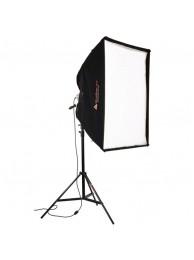Photoflex Kit Studio Lumina Continua Halogen StarLite, 1000W cu SoftBox 84x111cm