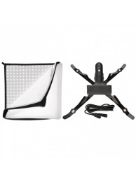 Westcott Flex 1-Light Tungsten Kit, Panou Flexibil Lumina Continua cu 256 Led-uri, Temperatura Culoare 3200K, include Diffuser si Sistem de Prindere