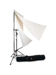 Photoflex Kit Panou de Difuzie/Reflexie 99 x 183 cm cu Stativ 240 cm
