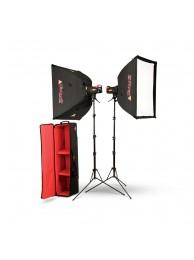 Photoflex Kit Studio FF200, 3x200Ws + 3xStative + 3xSoftBox + Geanta