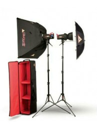 Photoflex Kit Studio FlexFlash, 2 x 400W cu umbrela si softbox
