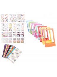 KIT 3x4 inch: 100 Rame Decorative Polaroid + 9 Seturi Decorative Polaroid + 10 Rame Foto Polaroid