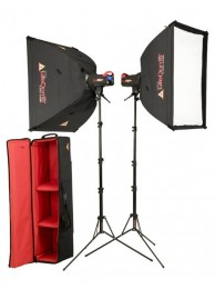 Photoflex Kit Studio FlexFlash 2x400W + 2xSoftbox + 2xStativ + Geanta Transport
