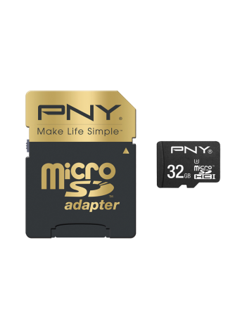 PNY 32GB Elite Performance (Video 4K) micro SDHC + Adaptor 100/60MB/s UHS-I, Class 10 U3