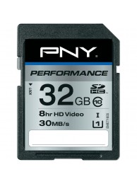 PNY 32GB Performance (Video HD) SDHC 30/20MB/s UHS-I, Class 10, WaterProof, ShockProof, Temperature Proof
