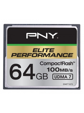 PNY 64GB Elite CF UDMA 7, 100/50MB/s