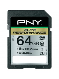 PNY 64GB Elite Performance (Video FullHD, 3D) SDHC 100/75MB/s UHS-I, Class 10, WaterProof, ShockProof, Temperature Proof