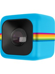 Polaroid Cube - Camera Video de Actiune pentru Sporturi, HD 1080p, Albastru