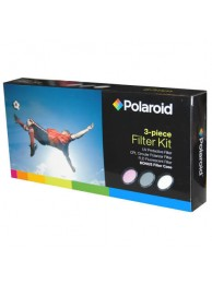 Set 3 Filtre Polaroid (UV, CPL, FLD) 58mm, include Husa