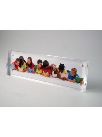 "Rama Foto Acryl Adventa Visionbox Panoramica 4""x11"""