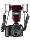 Blitz Macro YongNuo YN 24EX, ETTL, GN 24, pentru Canon EOS, Include 2 Blituri si 4 Inele Adaptoare