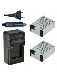 Acumulator Jupio tip GoPro AHDBT-302 pentru HERO3+ 1200 mAh Pachet 2 acumulatori + incarcator, 3 Ani Garantie