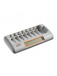Incarcator Jupio Profesional OctoCharger cu 8 canale pentru Acumulatori AA si AAA, trickle charging, incarcator masina, 30-120 minute