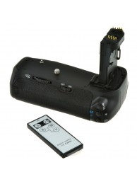Grip Baterie Jupio pentru Canon EOS 70D / 80D (BG-E14) + Telecomanda